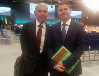 Noel Kinahan with Minister for Finance, Paschal Donohoe TD at the 2018 NED