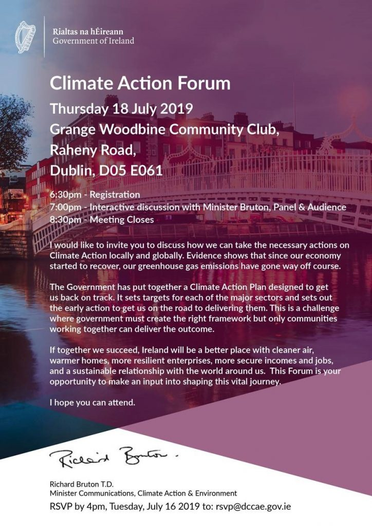 Climate Action Forum 18th July