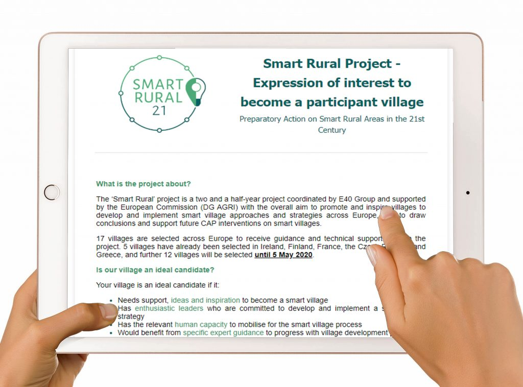 Smart Rural Project:   Expression of Interest to become a Participant Village/Rural Town