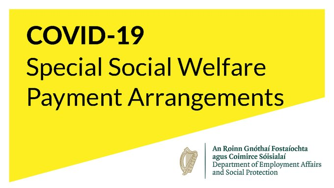 Social Welfare Payment Special Arrangements for COVID-19